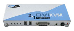 2x1 DVI KVM Switcher